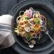 recettes de tagliatelles, coques et légumes