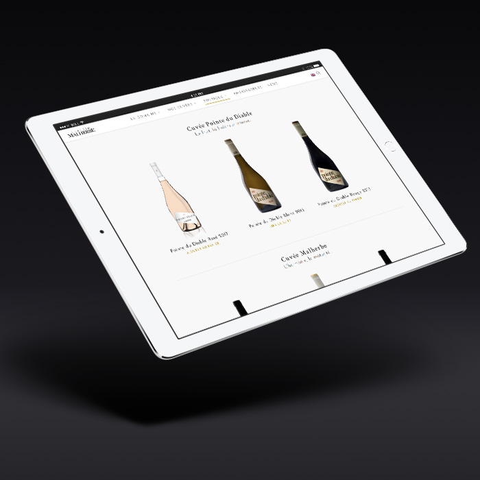 mise en place d'une boutique en ligne pour le domaine AOC Côtes de Provence Château Malherbe
