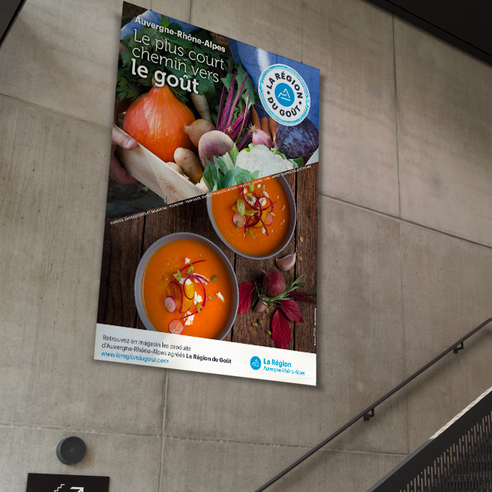 Campagne d'affichage de la marque régionale La Région du Goût