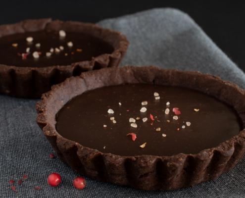 Recette de tarte au chocolat au sel parfumé